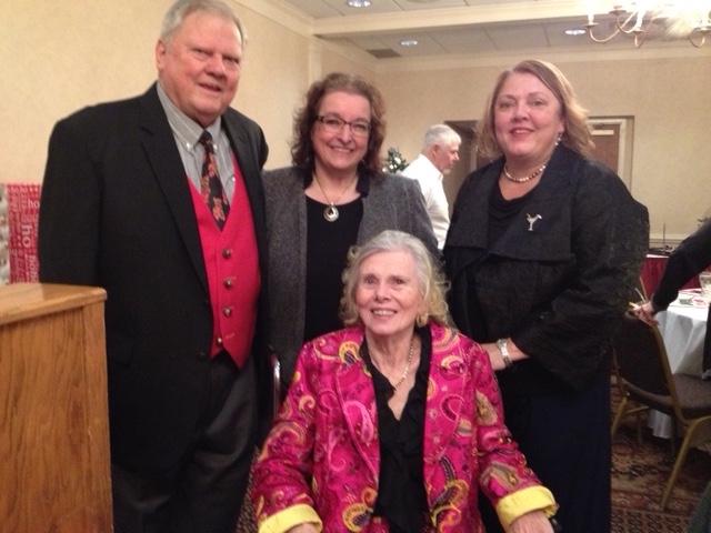Judy Jaeger (seated) l-r Raymond Jaeger, Rita Schiano, Mary Jaeger